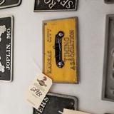 Kansas City Timing Association Vintage Vehicle Club Plate- Pot Metal