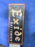 Excide BatteriesPainted Tin Sign