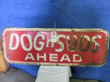 Dogs n Suds Painted Tin Sign