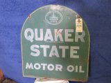 Quaker State DS Painted Tin Sign