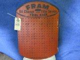Fram Oil Filters Pressed Board Display