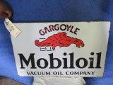 Mobil Oil Gargoyle DS Porcelain Wall Flange