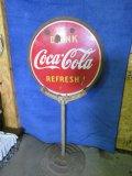 Coca Cola Porcelain DS Lollipop Sign