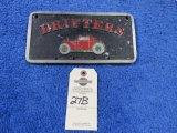Drifters Vintage Vehicle Club Plate- Pot Metal