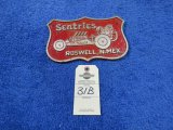 Sentries of Roswell, NM Vintage Vehicle Club Plate- Pot Metal