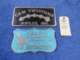 Cam Twisters Vintage Vehicle Club Plates- Pot Metal