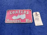 Loafers from Hannibal, MO Vintage Vehicle Club Plate- Pot Metal