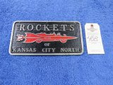 Rockets from KC North Vintage vehicle Clulb Plate- Pot Metal