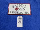 Saints, Republic, Mo Vintage Vehicle Club Plate- Pot Metal