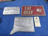 Vintage Vehicle Club Plates- Pot Metal