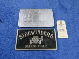 SideWindera Vintage Vehicle Club Plate- Pot Metal