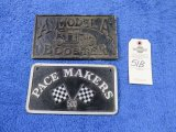 Model A Boosters and Pace Makers 500 Vintage Vehicle Club Plates- Pot Metal