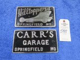 Hill Toppers and other Vintage Vehicle Club Plates- Pot Metal