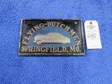 Flying Dutchman Vintage Vehicle Club Plate- Pot Metal