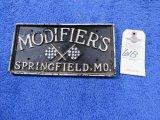 Modifiers Springfield, MO Vintage Vehicle Club Plate- Pot Metal
