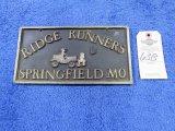 Ridge Runners Vintage Vehicle Club Plate Springfield, MO- Potmetal