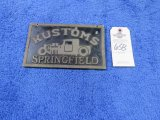 Kustoms Vintage Vehicle Club Plate from Springfield, MO- Pot Metal