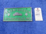 7-11 Vintage Vehicle Club Plate from Springfield, MO- Pot Metal