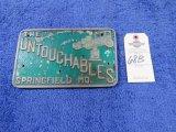 The Untouchables Vintage Vehicle Club Plate- Pot Metal