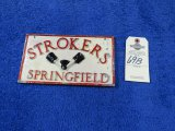 Strokers Vintage Vehicle Club Plate from Springfield, MO- Pot Metal