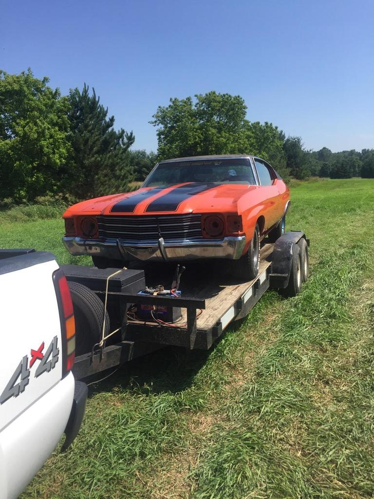 1972 Chevrolet Chevelle 2dr Coupe Rolling Body