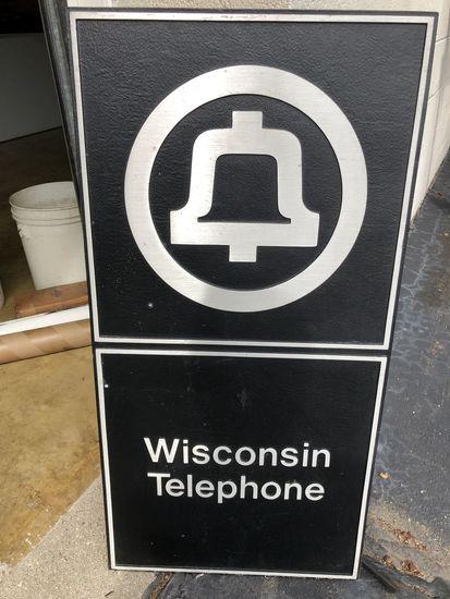 Wisconsin Telephone Cast Aluminum Sign