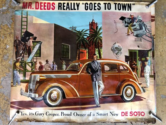 DeSoto Promotional Poster with Gary Cooper 44x38 inches