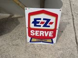 EZ-SERVE Gasoline Porcelain Pump Plate
