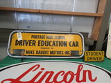 Driver's Education board for Top of Car
