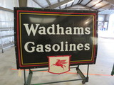 Wadhams Gasoline Porcelain Sign