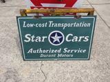 Durrant Star Cars Porcelain sign