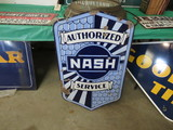 Nash Authorized Service DS Porcelain Sign