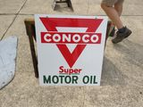 Conoco Super Motor Oil Porcelain sign