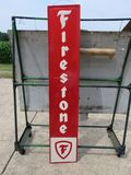 Firestone Painted Tin Sign
