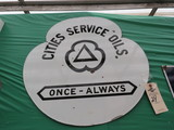 Cities Service DS Porcelain Sign