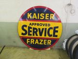 Kaiser-Frazer Approved Service Porcelain Sign