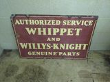 Whippett DS Porcelain Sign