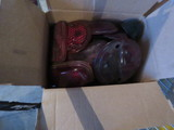 Lot of Vintage Red glass and other Tail LIght Lenses