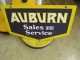 Auburn Sales and Service Porcelain Sign