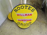 Rootes Group Hillman-Sunbeam Porcelain Sign