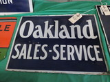 Oakland Pontiac Porcelain Sign