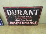 Durant Authorized Maintenance Porcelain Sign