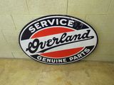 Overland Service & Genuine Parts Porcelain Sign