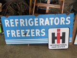 International Refrigerators Porcelain Sign