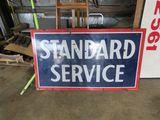 Standard Service Porcelain Sign