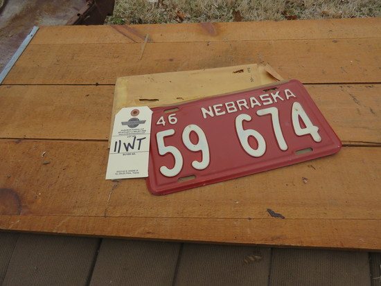 1946 NIB Nebraska License Plates