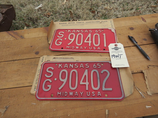 1965 Kansas License Plates