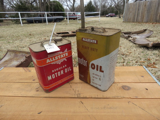 2 All State Oil Cans