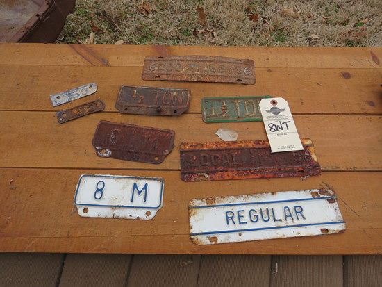 Vintage License Plate Group