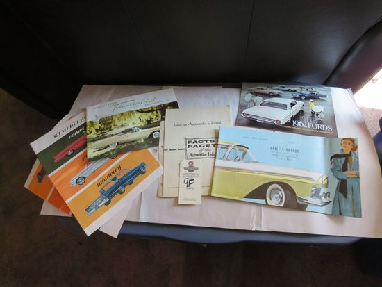 Grouping of Ford and Mercury Automotive Literature